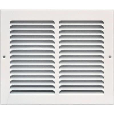 10 in. x 8 in. Return Air Vent Grille, White with Fixed Blades