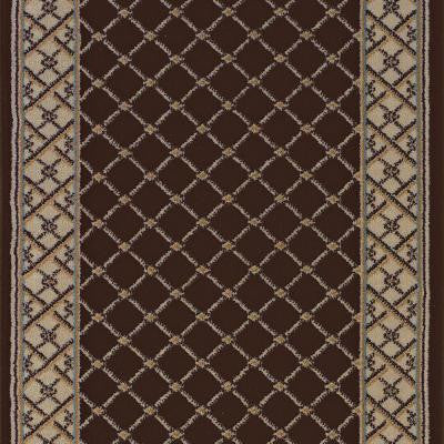 Stratford Bedford Brown 33 in. x Your Choice Length Roll Runner