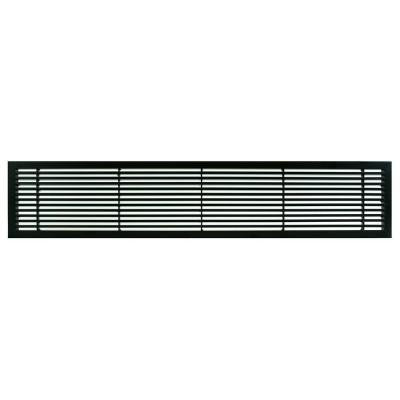 AG20 Series 6 in. x 48 in. Solid Aluminum Fixed Bar Supply/Return Air Vent Grille, Black-Matte