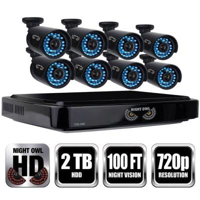 16-Channel Smart HD Video Security System with 2 TB HDD and 8 x 720p HD Cameras