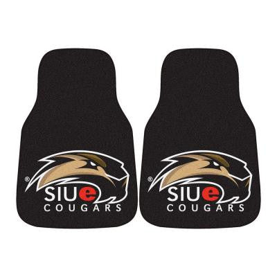 NCAA Southern Illinois University Edwardsville Heavy Duty 2-Piece 18 in. x 27 in. Nylon Carpet Car Mat