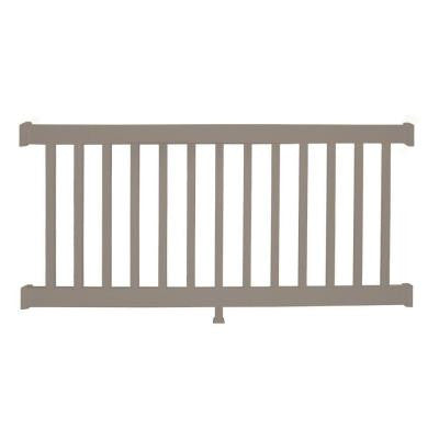 Walton 36 in. x 48 in. Vinyl Khaki Straight Rail Kit
