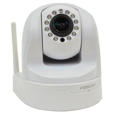 Wireless 960p IP Dome Shaped Indoor Surveillance Camera with Optical Zoom - White