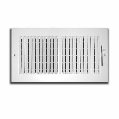 14 in. x 8 in. 2 Way Wall/Ceiling Register