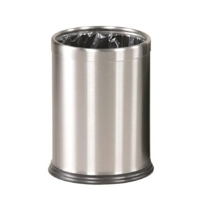Executive Series 3.5 gal. Stainless Steel Open-Top Trash Container