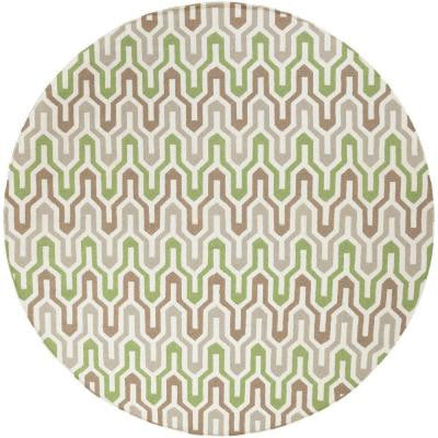 Fallon Forest 8 ft. x 8 ft. Round Indoor Area Rug