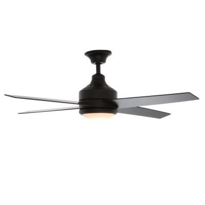 Mercer 52 in. Matte Black Ceiling Fan