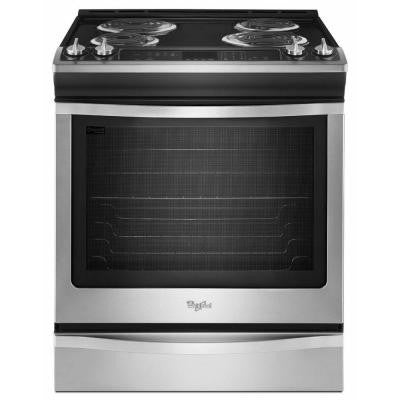 6.2 cu. ft. Slide-In Electric Range with Self-Cleaning Oven in Stainless Steel