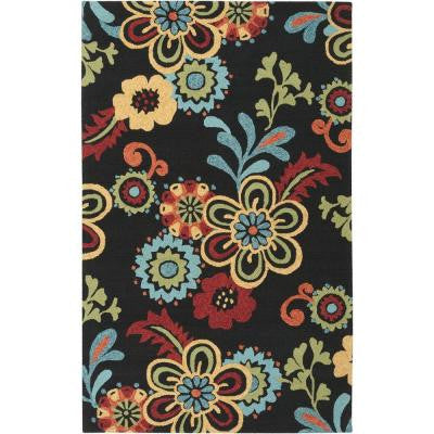 Santiago Black 5 ft. x 7 ft. 6 in. Indoor/Outdoor Area Rug
