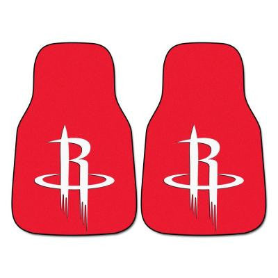 Houston Rockets 18 in. x 27 in. 2-Piece Carpeted Car Mat Set
