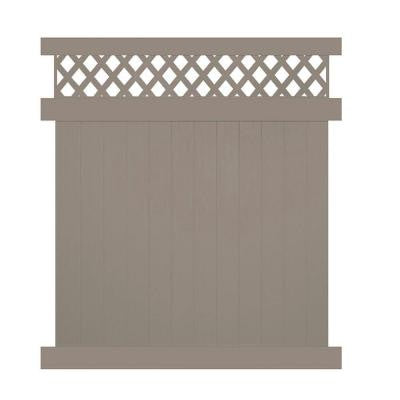 Colfax 7 ft. x 6 ft. Khaki Vinyl Privacy Fence Panel