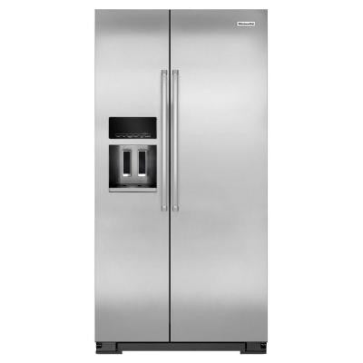 22.65 cu. ft. Side by Side Refrigerator in Monochromatic Stainless Steel, Counter Depth