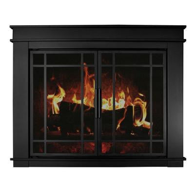 Fillmore Large Glass Fireplace Doors