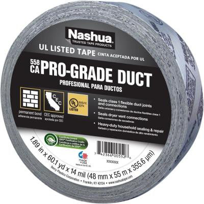 1-7/8 in. x 60 yd. 558CA Pro-Grade UL Listed Duct Tape