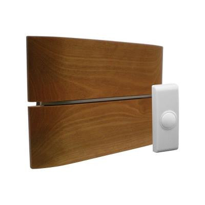 Wireless Battery Operated Door Chime Kit with Wood Style Cover