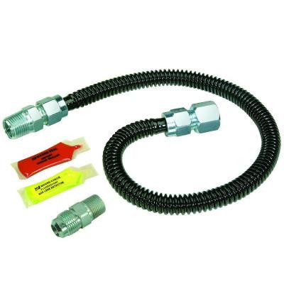Black ProCoat Gas Installation Kit for Gas Log Fireplaces and Space Heaters (85,000 BTU)