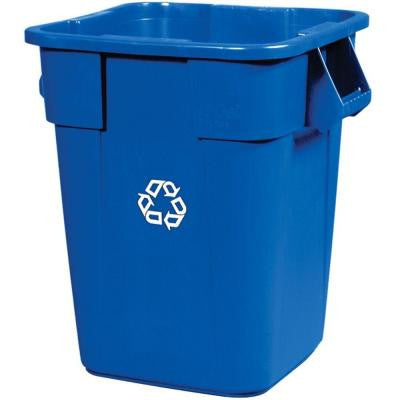40 Gal. Blue Square Recycling Container without Lid