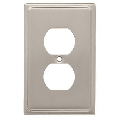 Country Fair 1 Duplex Outlet Wall Plate - Satin Nickel