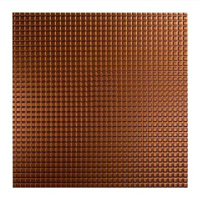 Square - 2 ft. x 2 ft. Lay-in Ceiling Tile in Oil Rubbed Bronze