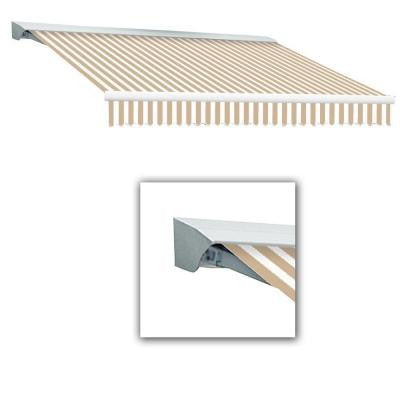 14 ft. Destin-AT Model Manual Retractable Awning with Hood (120 in. Projection) in Linen/White