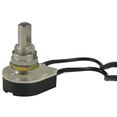 10/8/4-Amp Single-Pole Maintained Contact Push-Button Switch- Nickel plating