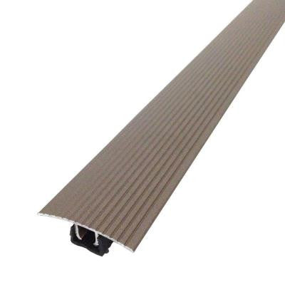 Cinch 1.5 in. x 36 in. Spice Fluted T-Molding Transition Strip for Similar Height Floors with Snap Track