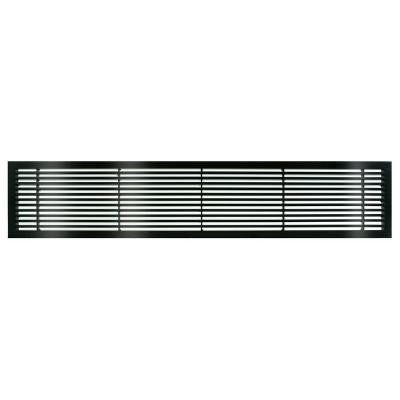 AG20 Series 6 in. x 42 in. Solid Aluminum Fixed Bar Supply/Return Air Vent Grille, Black-Gloss