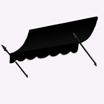 5 ft. New Orleans Awning (31 in. H x 16 in. D) in Black