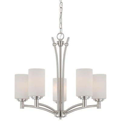 Pittman 5-Light Brushed Nickel Chandelier