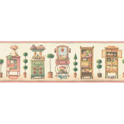 8 in. x 15 ft. Pastel Old Fashioned Vanities Border