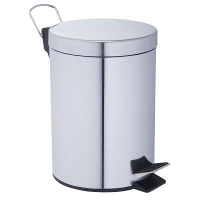12 liter Polished Stainless Steel Round Touchless Step-On Trash Can