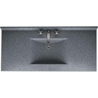 Contour 49 in. W x 22 in. D x 10-1/4 in. H Solid-Surface Vanity Top in Night Sky with Night Sky Basin