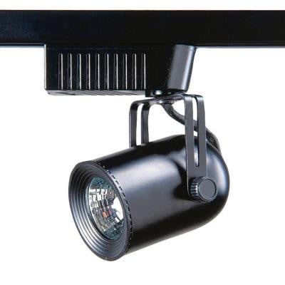 101 Series Low Voltage MR16 Black Round Back Track Lighting Fixture