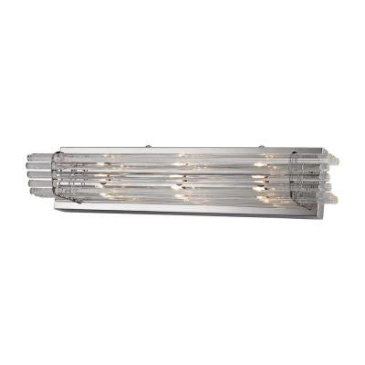 Quebec 22 in. 3-Light Chrome Vanity Light