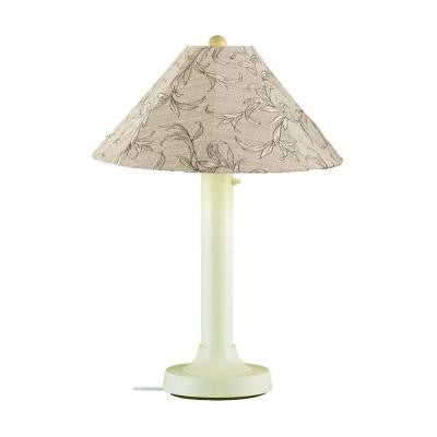 Catalina 34 in. Outdoor Bisque Table Lamp with Bessemer Shade