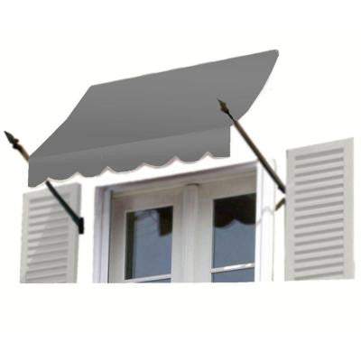 8 ft. New Orleans Awning (31 in. H x 16 in. D) in Gray