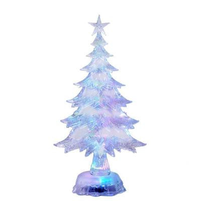 11 in. Battery-Operated LED Color Changing Christmas Tree