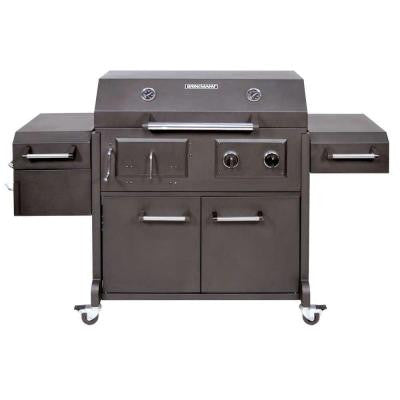 Triple Function Propane Gas / Charcoal Grill and Smoker