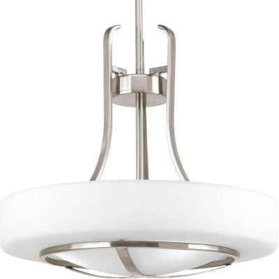 Torque Collection 3-Light Brushed Nickel Foyer Pendant