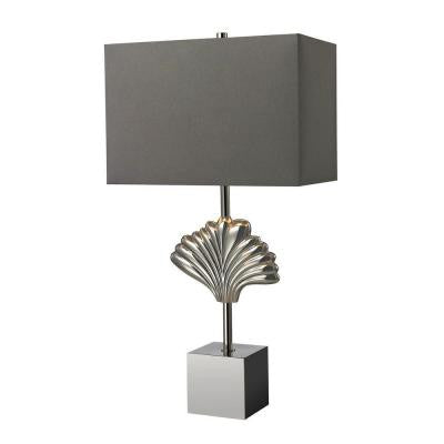 Vergato 26 in. Polished Chrome Table Lamp with Shade