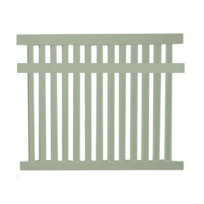 Dallas 5 ft. x 6 ft. Khaki Vinyl Pool Fence Panel