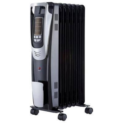 1500-Watt Digital Oil-Filled Radiant Portable Heater with Remote Control