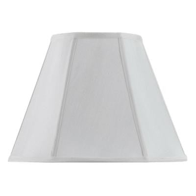 16 in. White Vertical Piped Basic Empire Lamp Shade