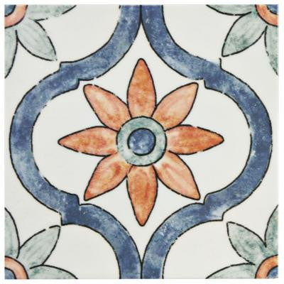 Bourges Arco 7-3/4 in. x 7-3/4 in. Ceramic Wall Tile (10.76 sq. ft. / case)