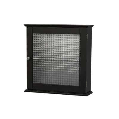 Cape Cod 18.5 in. x 5 in. Surface-Mount Medicine Cabinet with Glass Door in Espresso