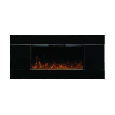 Lane 40 in. Wall-Mount Electric Fireplace in Black