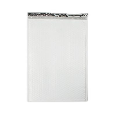 12.5 in. x 18.25 in. White Poly Bubble Mailers with Adhesive Easy Close Strip 50/Case