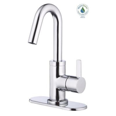 Amalfi Single-Hole Single-Handle Mid-Arc Bathroom Faucet in Chrome