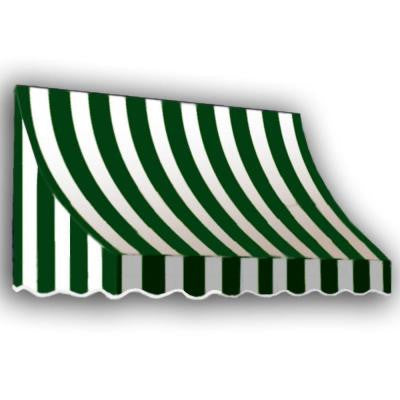 20 ft. Nantucket Window/Entry Awning (44 in. H x 36 in. D) in Forest/White Stripe