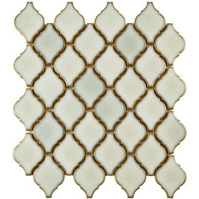 Arabesque Selene 9-7/8 in. x 11-1/8 in. x 6 mm Porcelain Mosaic Floor and Wall Tile